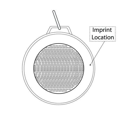 Clip On Mini Wireless Bluetooth Portable Speaker Imprint Image