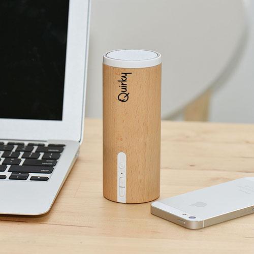 Portable Wooden Round Bluetooth 3.0 Speaker