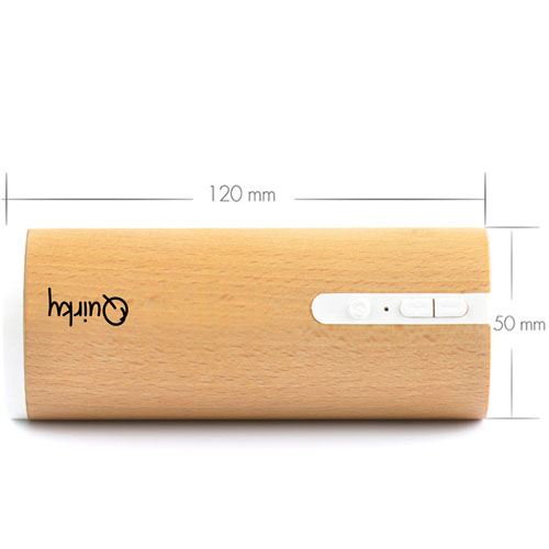 Portable Wooden Round Bluetooth 3.0 Speaker