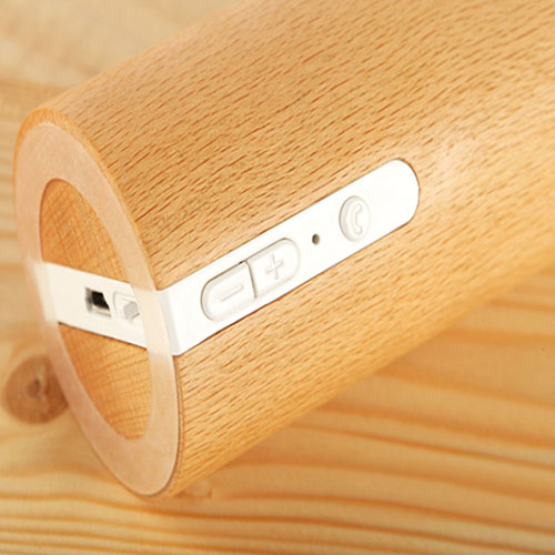 Portable Wooden Round Bluetooth 3.0 Speaker Image 8