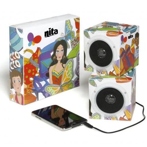 Cube Foldable Flat Speaker