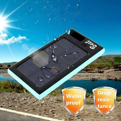8000mAh Solar Power Bank With Phone Holder Image 1