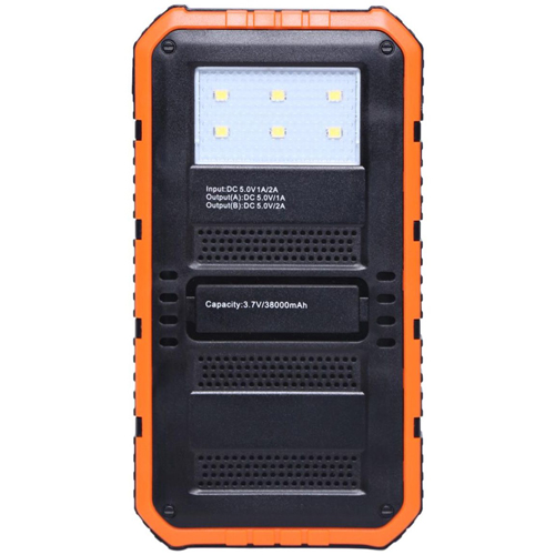 20000mAh Dual USB Solar Power Bank Image 3