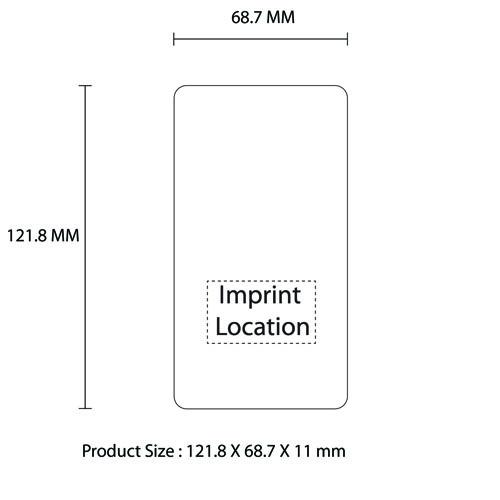 Slim Portable 4000mah Mobile Power Bank Imprint Image