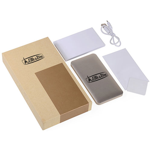 Dual USB Metal 5000mAh Power Bank Image 1