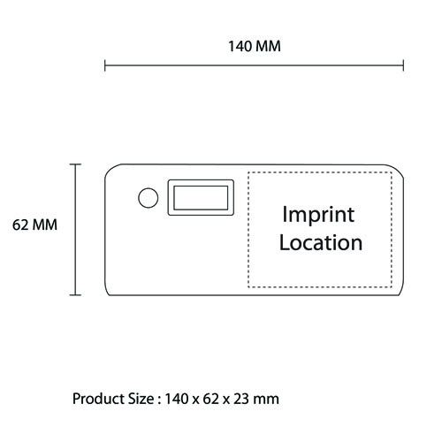 Dual USB 20000mAh Digital Power Bank Imprint Image