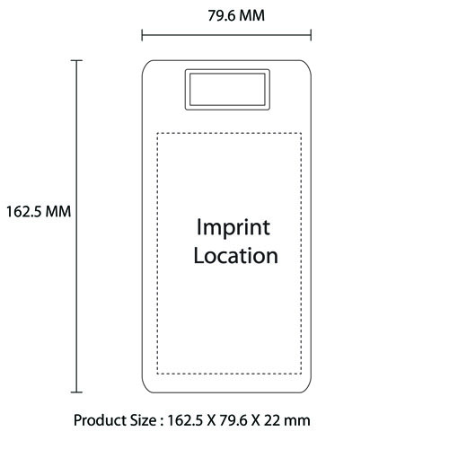 15000mAh Dual USB LCD Power Bank Imprint Image