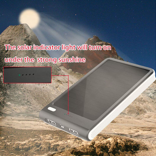 6000mAh Dual USB Solar Power Bank Image 4
