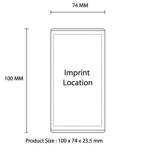 Ultra-Thin 5600mAh Portable Power Bank Imprint Image