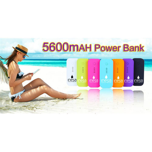 High Quality Plastic 5600mAh Power Bank