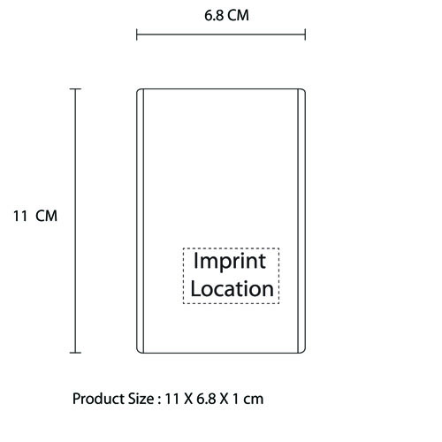 Ultra Slim 12000mAh Power Bank Imprint Image