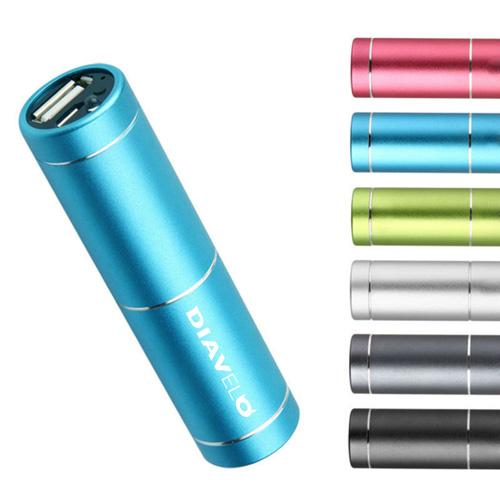 Mini Portable Aluminium USB Output Power Bank