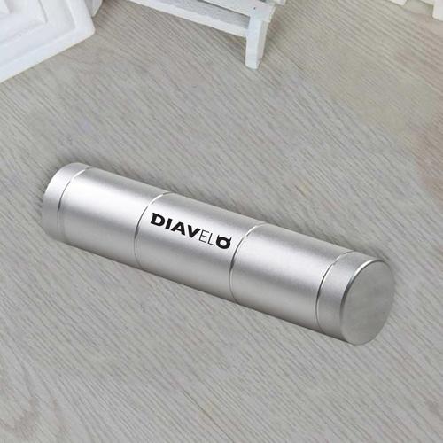 Mini Portable Aluminium USB Output Power Bank Image 5