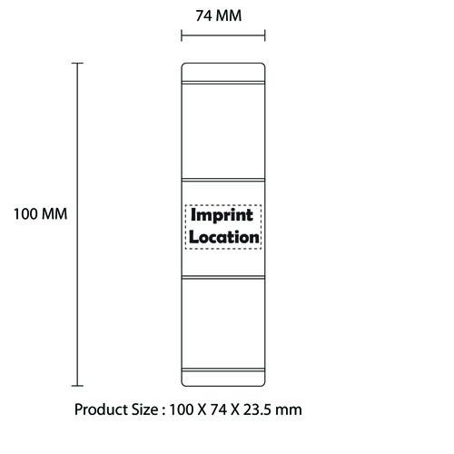 Mini Portable Aluminium USB Output Power Bank Imprint Image