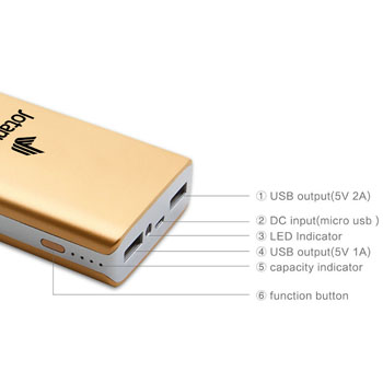 Dual USB 10000mAh Mobile Power Bank