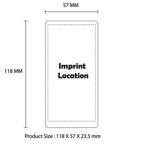 Dual USB 10000mAh Mobile Power Bank Imprint Image