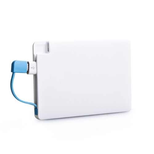 2500mAh Credit Card Power Bank With Micro Cable