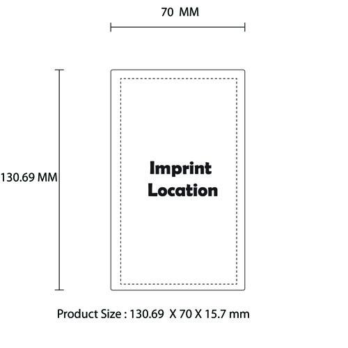 10000mAh Power Bank With Dual USB Ports Imprint Image