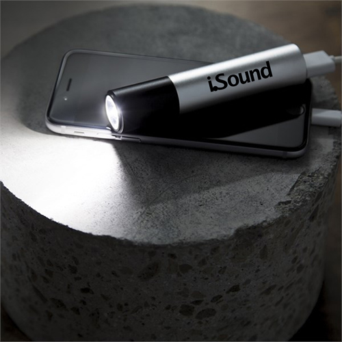 Portable Power Bank With LED Flashlight