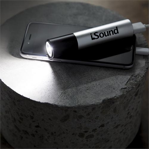Portable Power Bank With LED Flashlight