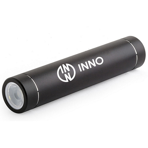 Cylindrical Stick Power Bank With LED Flashlight
