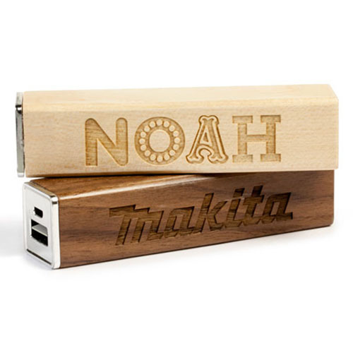 Square Wood 2600mAh Power Bank