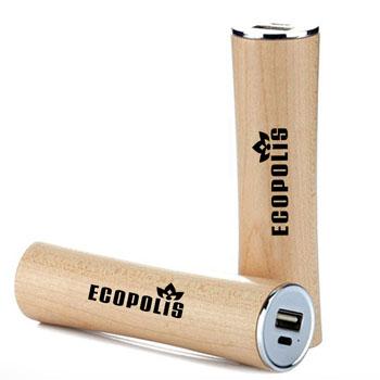 Mini Wood 2600mAh Power Bank