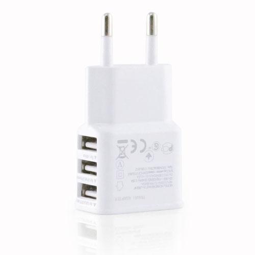 3 USB Ports EU Plug Wall Charger Image 5