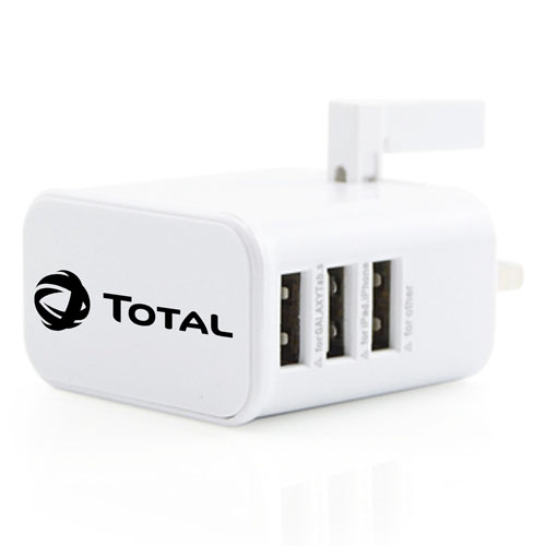 UK Triple USB Power Adaptor