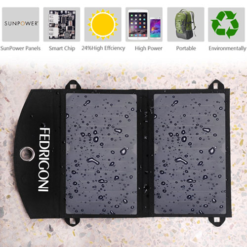 12W Dual USB Foldable Solar Charger Image 1