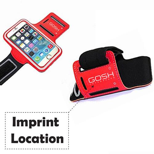 Sports Leather Phone Case Armband Imprint Image