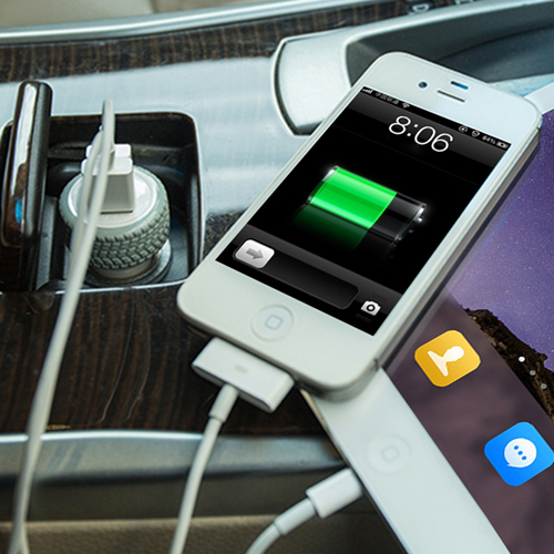 Tire Dual USB Car Charger