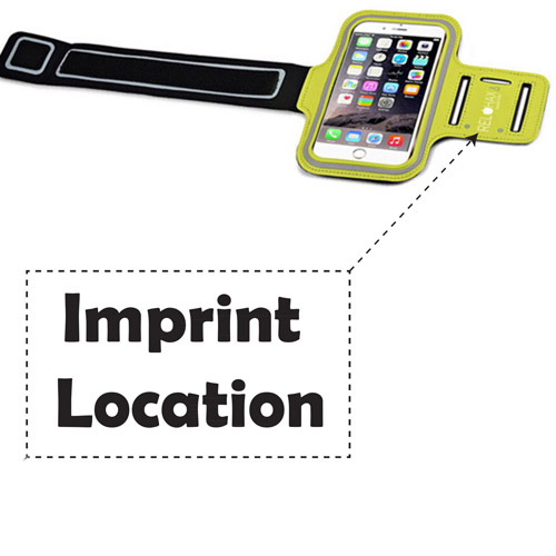 Waterproof Neoprene Armband Phone Holder Imprint Image