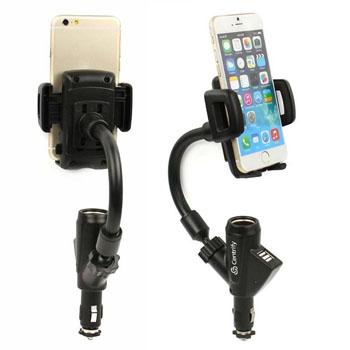 Dual USB Port Car Mount Holder Charger