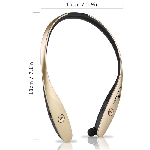 Retractable Wireless Bluetooth Stereo Headset