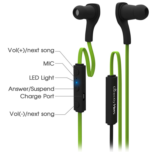 Wireless Bluetooth 4.1 Earphone  With Mic Image 3