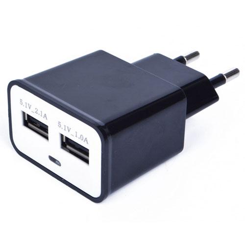 EU Plug Dual USB Wall Charger