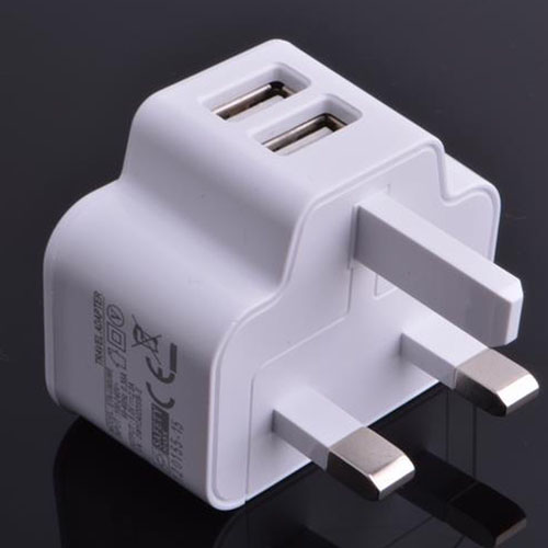 Dual USB UK Plug Wall Charger Image 4