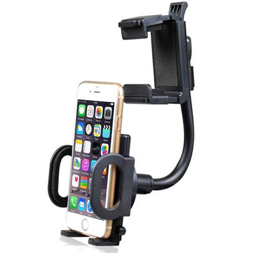 Car Rearview Mirror Mount Phone Holder