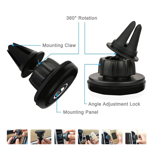 Magnetic Air Vent Phone Holder Image 9