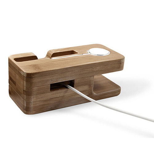 Bamboo Wood Phone Charging Stand Holder