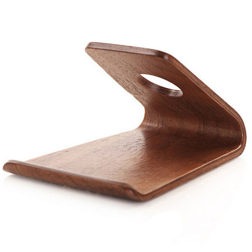 Walnut Wooden Mobile Phone Stand Image 5