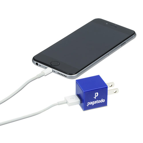 Square US Plug USB Wall Charger