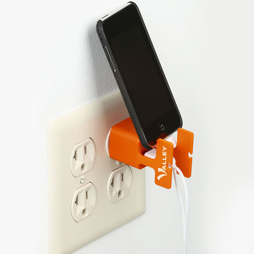 US Plug Wall Charger With Built-in Phone Holder