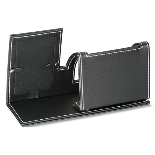 Leatherette Cell Phone Stand With Picture Frame Image 1