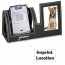 Leatherette Cell Phone Stand With Picture Frame Imprint Image