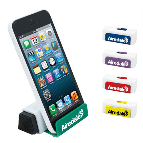 Slide Out Phone Stand With Screen Cleaner