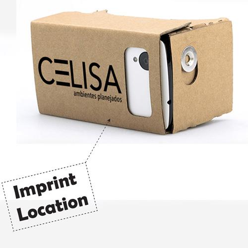 3D Cardboard VR Glasses Imprint Image