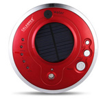 Round Solar Car Air Purifier With Oxygen Anion