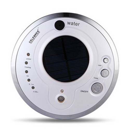Round Solar Car Air Purifier With Oxygen Anion Image 1